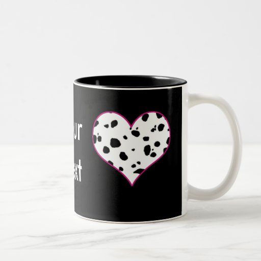 Dalmatians heart Two-Tone coffee mug