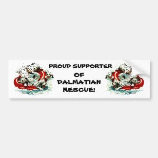 DALMATIANS &LIFE RING ANIMAL RESCUE Bumper Sticker Car Bumper Sticker