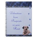 Dalmatians Pawrints en su ~blue del cuaderno del c