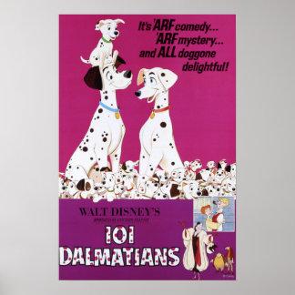 Dalmatians Pink Poster