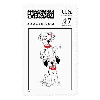 Dalmatians Playing Disney Stamp