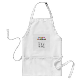 Dalmatians Wishing Happy New Year 2016 Adult Apron