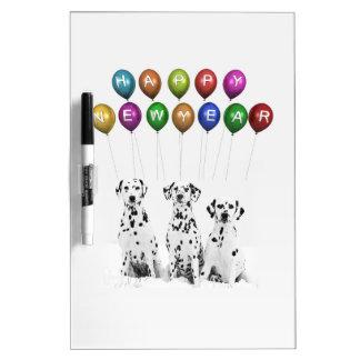 Dalmatians Wishing Happy New Year 2016 Dry Erase Board