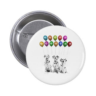 Dalmatians Wishing Happy New Year 2016 Pinback Button