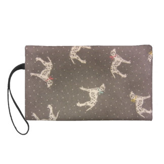 Dalmatians with Bows Wristlet Purse