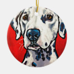 dalmation 02 Double-Sided ceramic round christmas ornament