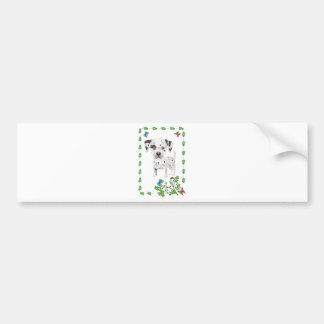 Dalmation and Butterflies Car Bumper Sticker