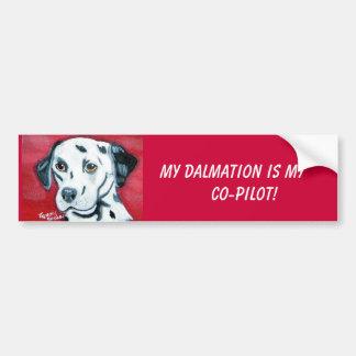 Dalmation bumper sticker... car bumper sticker