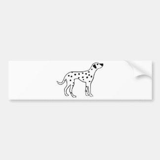Dalmation Dog Car Bumper Sticker