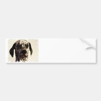 Dalmation Dog Bumper Sticker Car Bumper Sticker