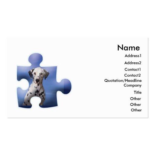 Dalmation Dog Business Cad Business Card