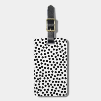 Dalmation Dots in Black and White Tag For Luggage