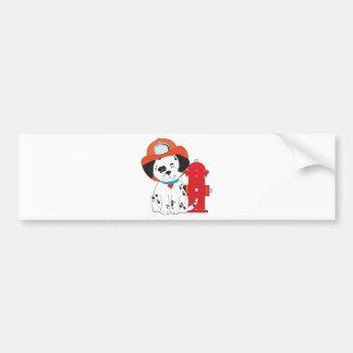 Dalmation Fire Dog Car Bumper Sticker