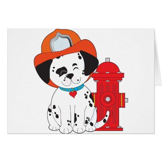Dalmation Fire Dog Card