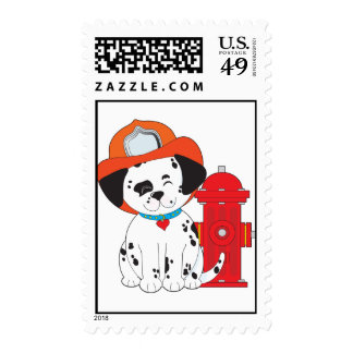 Dalmation Fire Dog Postage Stamp