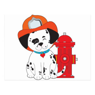 Dalmation Fire Dog Postcard