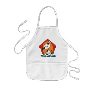 Dalmation in Dog House T-shirts and Gifts Aprons