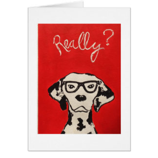 Dalmation in Red Greeting Card