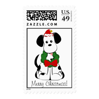 Dalmation Merry Christmas Stamp