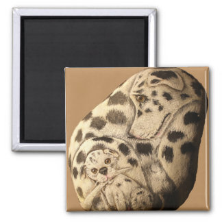 Dalmation mother and pup magnet