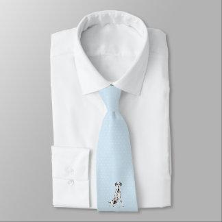 Dalmation on Blue w/White Diamonds Tie
