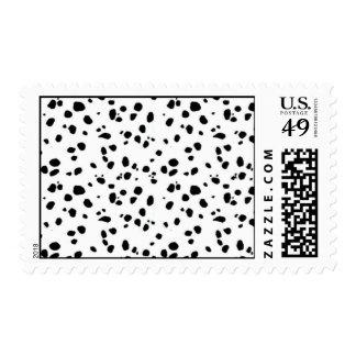 Dalmation pattern postage stamp