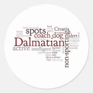 Dalmation Pegatina Redonda