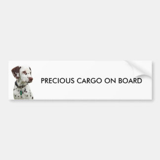 Dalmation puppy bumper sticker, gift idea car bumper sticker
