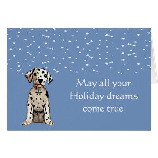 Dalmation Puppy Holiday Card