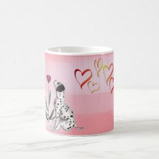 Dalmation Rose & Hearts-DIY Mug