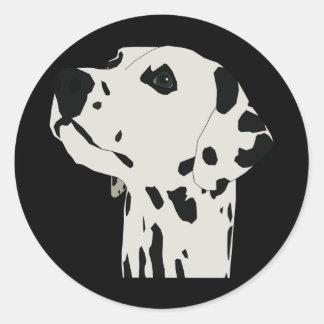 Dalmation Round Sticker