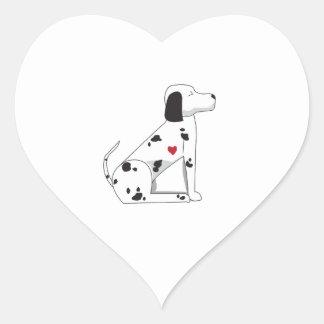 Dalmation Heart Sticker