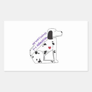 Dalmation Rectangular Stickers