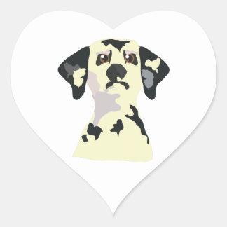 Dalmation Heart Stickers