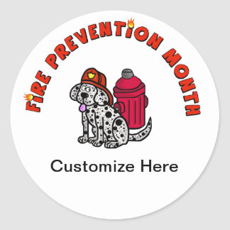 Dalmation with Helmet & Hydrant Stickers