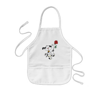 Dalmation With Rose Tshirts and Gifts Kids' Apron