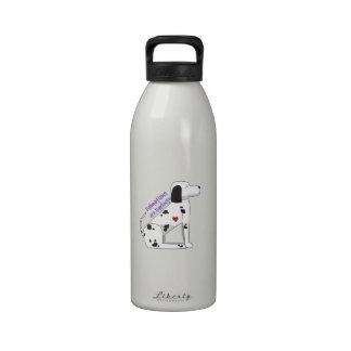 Dalmations querido botella de agua reutilizable