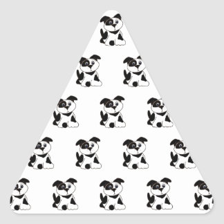 Dalmations Triangle Stickers