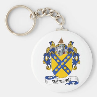 DALRYMPLE FAMILY CREST -  DALRYMPLE COAT OF ARMS BASIC ROUND BUTTON KEYCHAIN