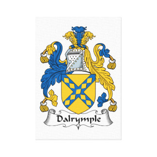 Dalrymple Family Crest Stretched Canvas Prints