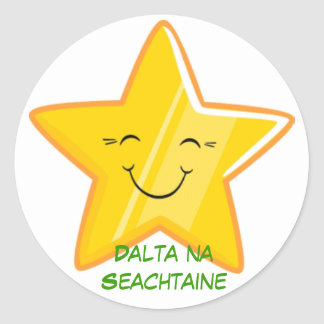 Dalta na Seachtaine = Student of the week Classic Round Sticker