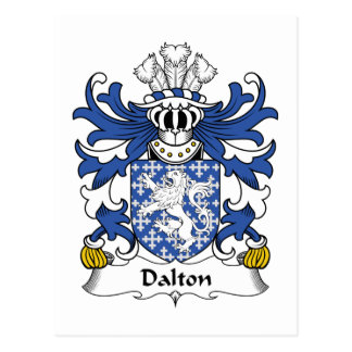 Dalton Family Crest Postcard