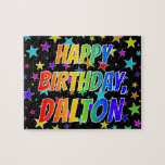 "[ Thumbnail: ""Dalton"" First Name, Fun ""Happy Birthday"" Jigsaw Puzzle ]"