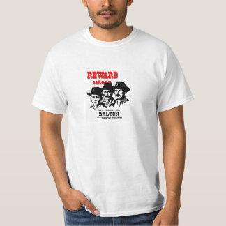 Dalton Gang Brothers Modern wanted poster image. T-Shirt