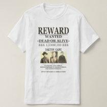 Dalton Gang Vintage Cool Old Western Wanted Poster T-Shirt