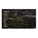 Dalton Highway crossing Bonanza Creek Business Card Template