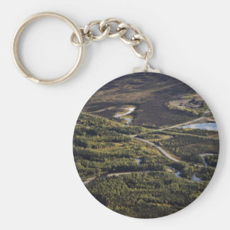 Dalton Highway crossing Bonanza Creek Key Chains