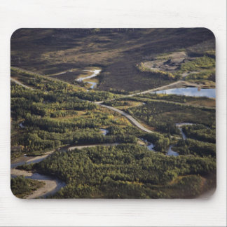 Dalton Highway crossing Bonanza Creek Mouse Pads