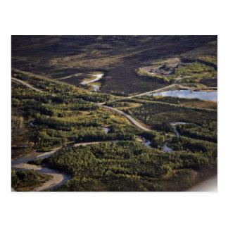 Dalton Highway crossing Bonanza Creek Post Card