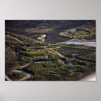 Dalton Highway crossing Bonanza Creek Poster